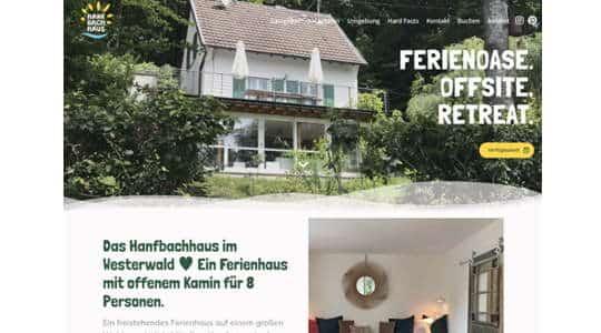 Webseite des Ferienhaus Hanfbachhaus in Hennef im Westerwald
