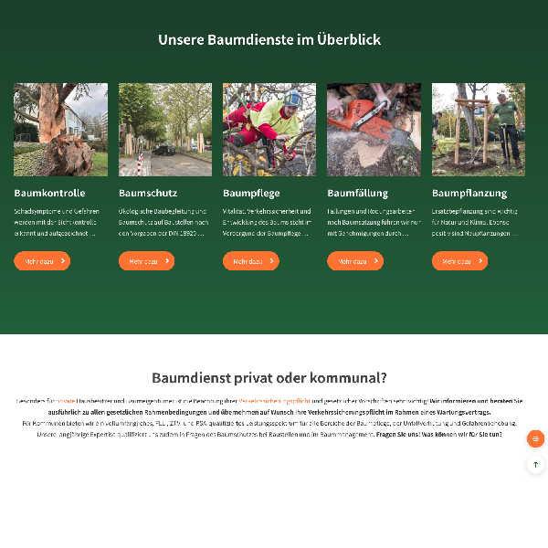 Webseite von Baumdienst Herkenrath